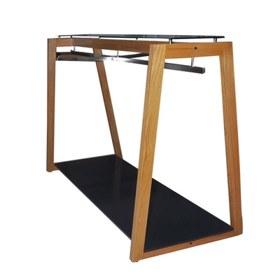 OAK Mid-Floor Garment Display Stand